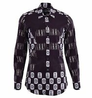 DOLCE & GABBANA GOLD RUNWAY Armor Printed Patchwork Cotton Shirt Brown 04803