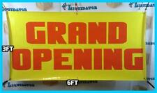 GRAND OPENING 3' x 6' Banner Sign Largest Size NOW Highest Quality 3 ft X 6 ft
