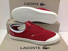 Lacoste Men's Laced up Manville Tennis Shoes Trainers AP SRM - All Sizes Red- 7-29srm2132047 UK 6