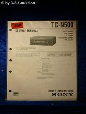 Sony service manual TC n500 cassette deck (#0858)