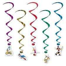 Big Top CIRCUS WHIRLS (5 COUNT) Hanging CARNIVAL Party Decorations