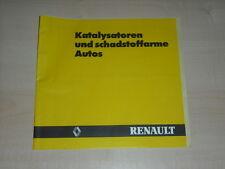 40476) Renault Katalysatoren und schadstoffarme Autos Prospekt 12/1984