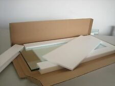 """10"""" x 24"""" Rectangle 3/8"""" Clear Tempered Glass Shelf"""