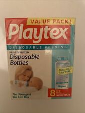 New listing 140 Value Pack Playtex Disposable Feeding Pre-Sterilized Bottles 8oz Liners