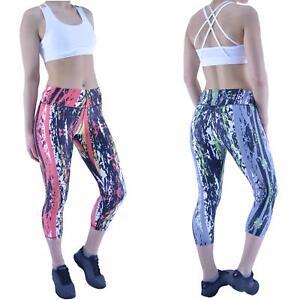 Women's Gym Leggings Yoga Ladies Active Running Fitness Exercise 3/4 Capri Pants