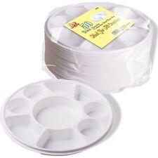 50 x Rond de luxe résistant 9 compartiment Plastique fête assiette