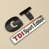 GT TDI SPORT EDITION Badge Emblem NEW For VW Golf Rear Boot MK4 MK5 MK6 BLACK