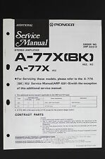 Pioneer A-77X (Bk) Original Stereo Amplifier Additional Service Manual o115