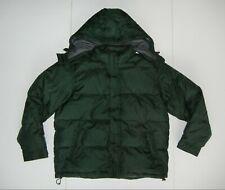 EDDIE BAUER Green Nylon Warm GOOSE DOWN WINTER JACKET Puffer Ski Coat Sz Men's L