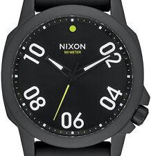 DISPLAY ITEM Nixon Ranger 45 Sport All Black Mens Watch A957001 DEFECTIVE CROWN