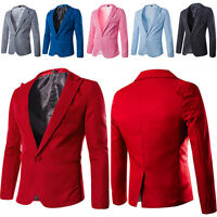 UK Fashion Men Stylish Casual Slim Fit Suit Blazer Coat Jacket Tops Outwear