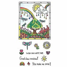 Hampton Art color colour me colouring in book clear cling craft stamps  SUNSHINE