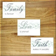 Love FAITH Family Wall Art Picture Prints Inspirational Decor Bedroom Kitchen +