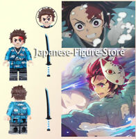 HOT SALE Demon Slayer Kamado Tanjirou Kimetsu no Yaiba Minifgure lego MOC Marvel
