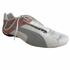 Puma Drift Cat Shoes Womens 11 US 43.5 EU White Leather Purple Pink Suede
