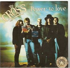 """THE CROSS power to love 45T 7"""" german pressing with french promo stamp QUEEN"""