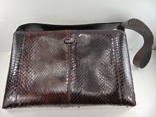 Tods (Hand Made in Italy) Genuine Python Snakeskin Magnetic Flap Handbag $2,250!