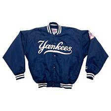 New York Yankees Padded Bomber Jacket | Vintage 90s MLB Baseball Sportswear VTG