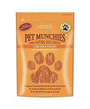 Pet Munchies Chicken Strips 100% Natural Dog Treats Grain Free 90g x Box 8