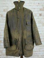 BARBOUR Solway Zipper Olive Wax Countrywear Field Jacket size 107Cm 42In AA
