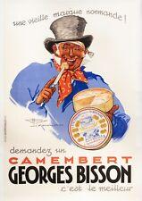 Vintage Alcohol Poster - Lemonnier - Camembert Brisson - Normandy - Cheese -1937