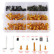 177PCS Sportbikes Motorcycle Fairing Bolts Kit M5/M6 Fastener Screws Gold