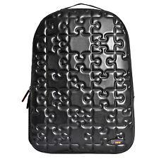 Urban junk-puzzle noir 3rd dimension en relief sac à dos/sac à dos