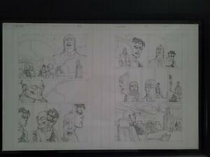 INVINCIBLE Original Page Spread- Art By Ryan Ottley, Written By Robert Kirkman