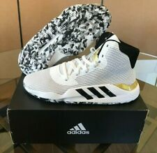 $120 Adidas Pro Bounce 2019 High White Black Gold Basketball EE3896 Men's Sizes