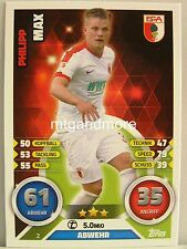 Match Attax 2016/17 Bundesliga - #002 Philipp Max - FC Augsburg