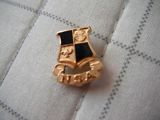 """Vintage Scholastic? Lapel Pin - """"NSA"""" - """"Lamp of Learning"""" and Globe on Shield"""