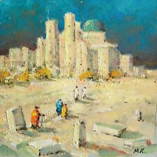 SAMARKAND, THE RUINS OF THE MOSQUE Painting by Mark KREMER (b.1928), Original oi