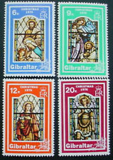 GIBRALTAR 1976: CHRISTMAS: SET OF 4 MNH STAMPS