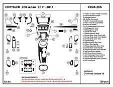 Fits Chrysler 200 sedan 2011- 2014 Dash Trim Kit Overlay Interior Dashboard