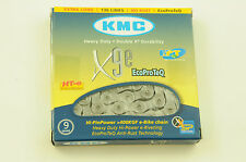 "KMC X9E EPT 9 SPEED ECO PROTEQ HEAVY BIKE DUTY CHAIN 1/2"" x 3/32"" 136 LINK SILVE"