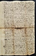 1727 antique COLONIAL DEED kittery york me EMERY land Massachusetts Bay MOODY