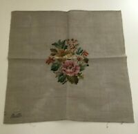 Bucilla Pre-worked Needlepoint Wool Floral Roses Seat Cover Pillow 22x23 New