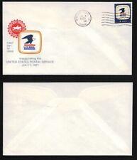 #1396 FDC 7-1-1971 Boulder Creek CA Inauguration of USPS Rarity 60 FD7694