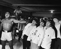 1964 Cassius Clay MUHAMMAD ALI & THE BEATLES Glossy 8x10 Photo Training Camp