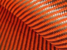 100% Real PREMIUM Carbon Fiber ORANGE Kevlar Fabric Cloth *** FREE SHIPPING***