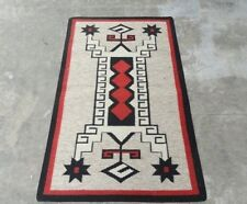 Small Wool Kilim Navajo Southwestern Bohemian Handmade Area Rug 3'x5'