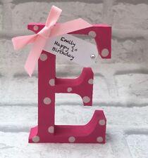 Personalised  Handmade Letter Baby Name Birth Nursery Girl Boy Christening Gifts