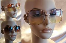 PICK YOUR COLOR OVERSIZED BUTTERFLY GRADIENT LENS ROSE GOLD FRAME SUNGLASSES