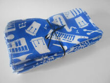 "Cloth Wipes 20 Baby Flannel 8""x8"" Boy Blue Music Polka Dot Tissue Family Napkin"