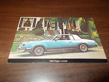 1980 Buick Regal Limited Advertising Postcard