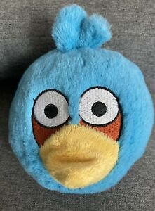"2010 Angry Birds Blue Bird Plush No Sound 5"" Commonwealth Toy"