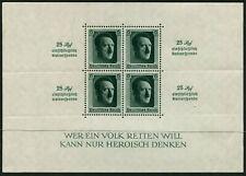 GERMANY - 1937 HITLER O'Print/Roulette Miniature Sheet MNH SG637 Cv £375 [B4045]