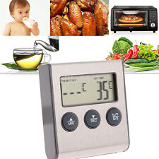 Digital LCD Kitchen Food Meat Cooking Thermometer Probe Alarm BBQ Grill Oven C/F