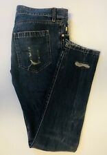 Raf by Raf Simons Distressed Blue Jeans   Skinny Sz.33 Fits 31-32  Made in Italy