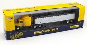ERTL 1:64 New Holland Yellow Peterbilt GRAIN TRAILER SEMI TRUCK *NIB*